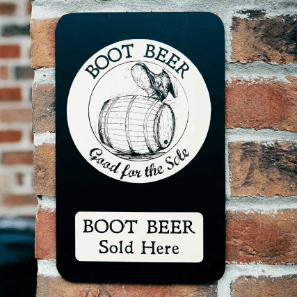 The boot beer sign